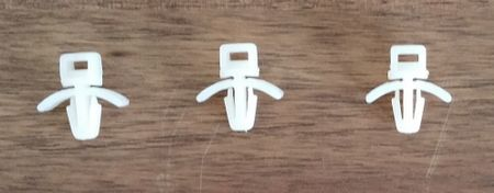 Cable or tube fixing Cable clips 4 mms natural 10 pieces – image 4