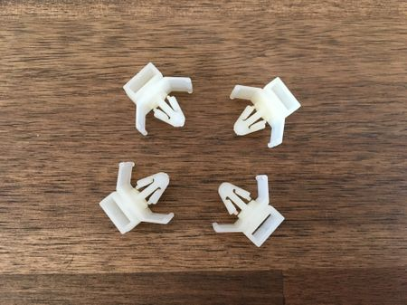 Cable or tube fixing Cable clips 4 mms natural 10 pieces – image 3