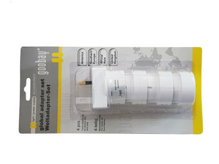 Travel Plug Adaptor 4-part set, suitable for all countries around the globe