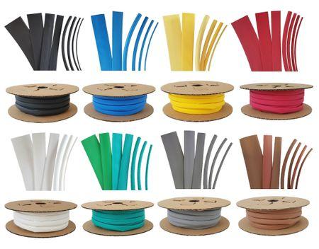 60m Schrumpfschlauch BEC1 12,7mm 125GradC (2:1) verschiedene Farben – Bild 1