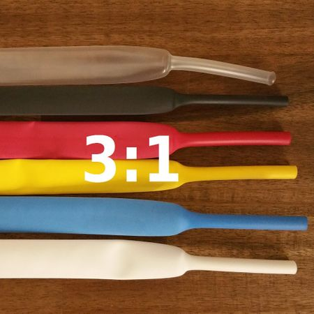 Heat-shrinkable tubing 4,8 mms 125°C thin-walled (3:1) Roll/100m – image 1