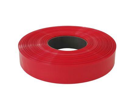 100m PVC Schrumpfschlauch dünnwandig 50mm Flachmaß = 32mm Ø 80° (2:1) – Bild 2