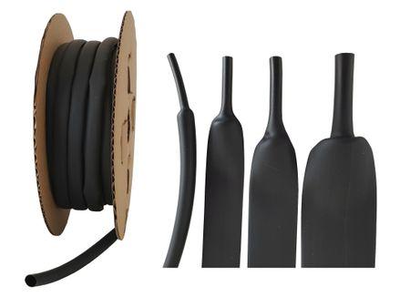 50m Schrumpfschlauch BEC4 24mm schwarz 125°C (4:1) UL
