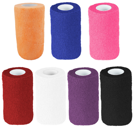 Selbstklebende Haftbandage selbsthaftende Flex Bandage Verband 4,5 m Farbauswahl – Bild 1
