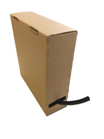 Insulating Sleeve 3,87x0,57mms black, dispenser box 10m Minibox