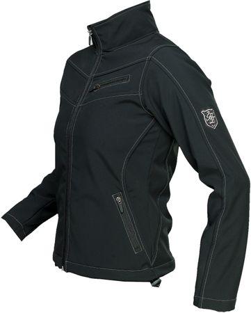 AKTION Elegante Damen Qualitäts Softshell Jacke schwarz Gr. S u. XL – Bild 3