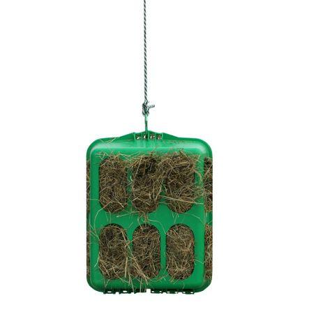 Stallbedarf Slow feeder Kunststoff Heubox grün  33x50x60 cm – Bild 1