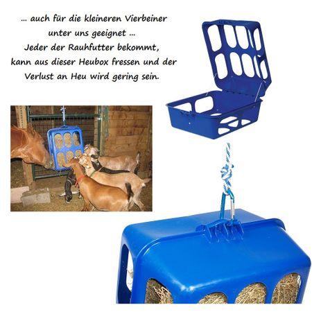 Stallbedarf Slow feeder Kunststoff Heubox grün  33x50x60 cm – Bild 2