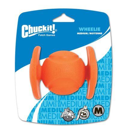 AKTION ChuckIt Wheelie Hundeball aus natürlichem Kautschuk Größe M 6 cm – Bild 1