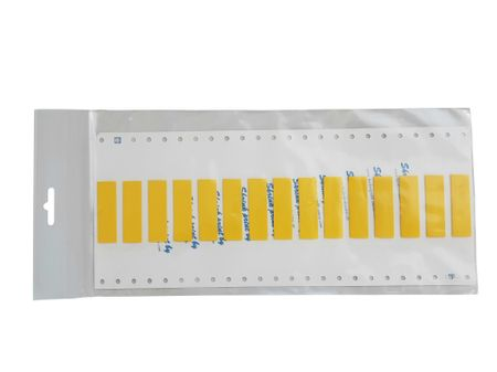 "Marker for heat-shrinkable tubings ""shrink-print"" size: 6mms 63 pieces yellow"