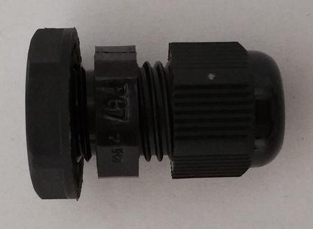 Kabelverschraubung 3tlg PG7 schwarz für Kabel 3,5-6 mm – Bild 3