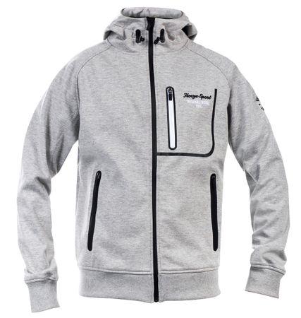 AKTION Atmungsaktive und wasserdichte Sweatshirt Jacke, grau