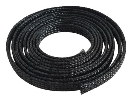Braided Expandable Sleeving 20-40 mms / 1 meter black