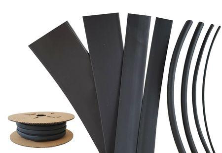 30m Heat-shrinkable Tubing BEC3 40mms black 125°C (3:1) UL