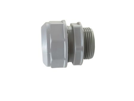 Flexible Conduit Adaptor 2-part PG16 grey IP 54 for flexible conduits – image 1