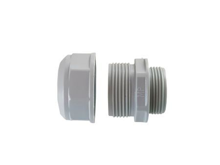 Flexible Conduit Adaptor 2-part PG16 grey IP 54 for flexible conduits – image 2