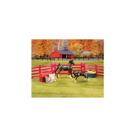 AKTION Breyer Stablemates Stallfreunde Set Stute mit Fohlen und Zubehör (10 tlg) – Bild 2