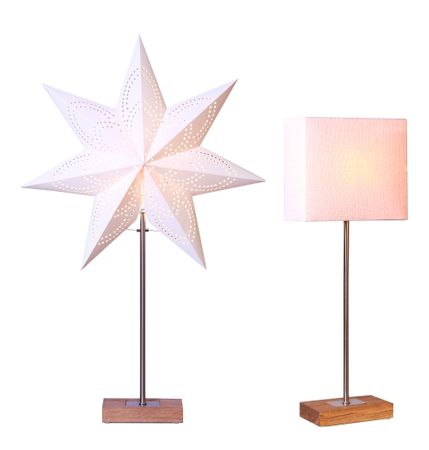 Standard Lamp Combi Lamp Star and Lampshade colour white – image 1