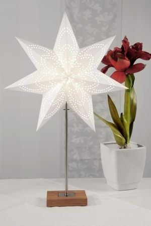 Standard Lamp Combi Lamp Star and Lampshade colour white – image 2