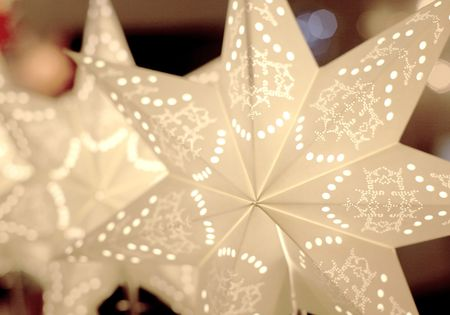 "Standard Lamp ""Star"" cream/white 55cms metal foot – image 2"