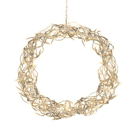 LED Light Wreath Curly for Door, Wall and Window 80 lights Indoor – image 1