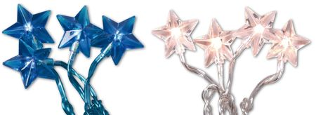 SALE!! LED Chain of Lights Chain of Stars 30 stars 7,35m diff. colours – image 1