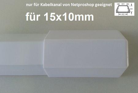 """Verbinder """"Endstück"""" passend für Kabelkanal 15x10mm (Innenmaß) – Bild 8"""
