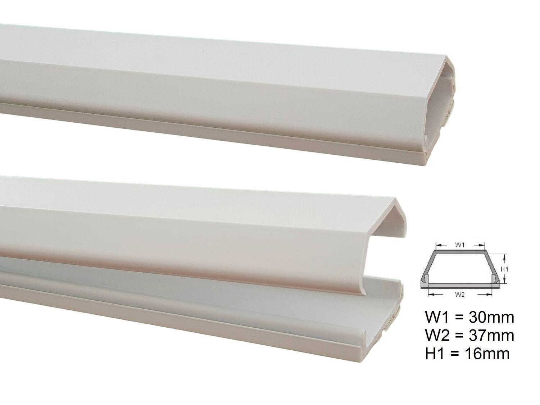 1m kabelkanal 37x16mm innenma versch farben selbstklebend kabel montage kabelkanal. Black Bedroom Furniture Sets. Home Design Ideas
