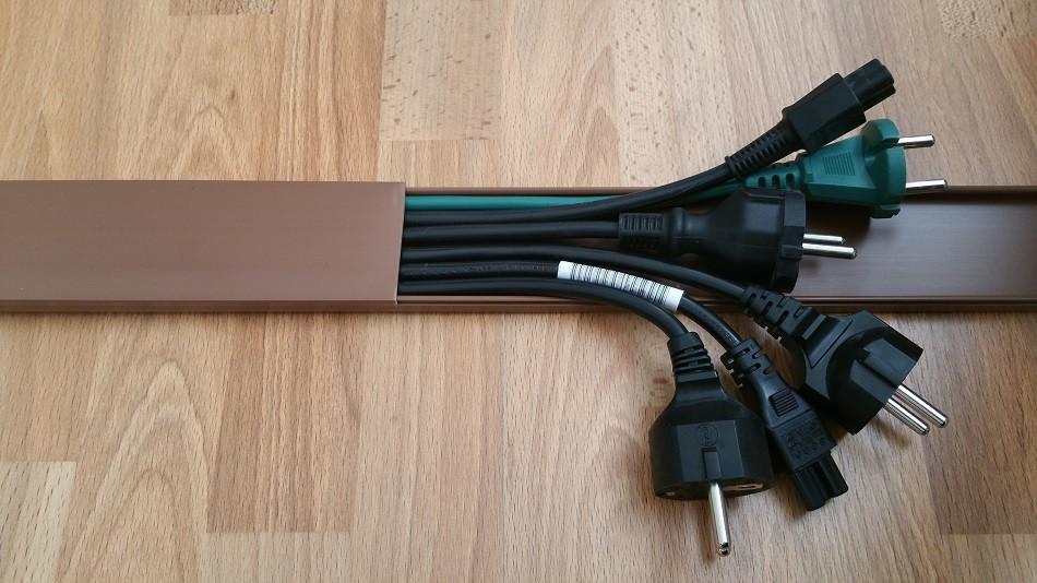 1m kabelkanal 50 8x11mm au enma versch farben selbstklebend kabel montage kabelkanal. Black Bedroom Furniture Sets. Home Design Ideas