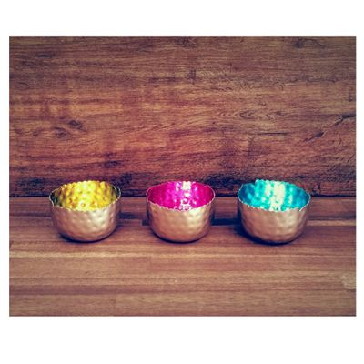 Sparkling Tea Light Holder Lantern Deco Bowl Metal silver 8x6cm small diff. colours – image 13