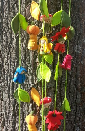 SALE!! Lucky Fellow Garland, Lucky Sod Garland with mushroom kids and leaves 11-part 1,6m – image 3