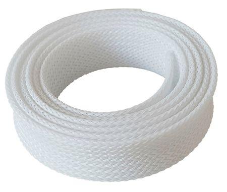 1m Geflechtschlauch 4-8mm weiß