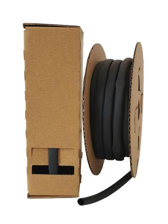 10m Schrumpfschlauch 6,0mm (2:1) Polyolefin 125°C schwarz in Spenderbox Minibox – Bild 1