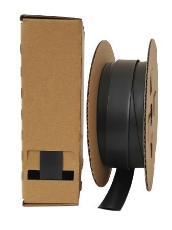 8m Heat-shrinkable tubing 12,0mms 2:1 Polyolefin 125°C black dispenser box Minibox – image 1