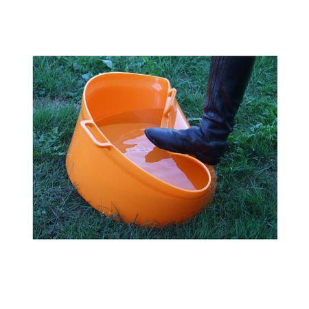 GEWA Flexible und Robuste Futterschale Eimer Wasserbehälter 50 Liter Dunkelblau – Bild 2