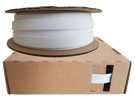 Braided Expandable Sleeving dispenser 7-16 mms / 10 meters white Minibox