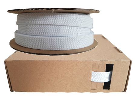 Braided Expandable Sleeving dispenser 12-25 mms / 5 meters white Minibox