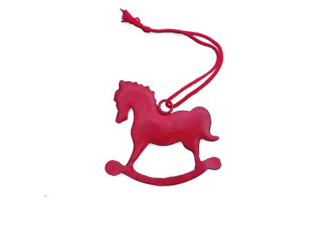 Rocking Horse hanging red ca. 7 cms metal – image 1