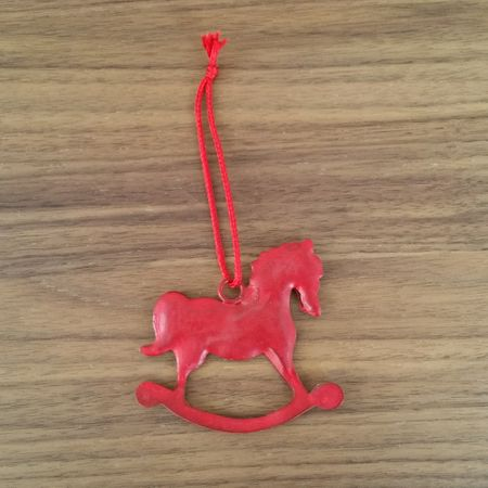 Rocking Horse hanging red ca. 7 cms metal – image 2