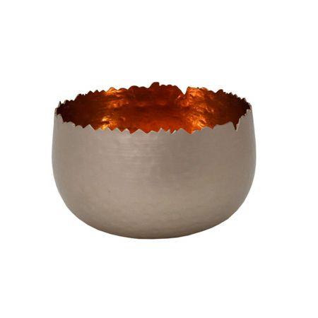 Strahlender Teelichthalter Windlicht Dekoschale Metall silber 12x7cm div. Farben – Bild 3