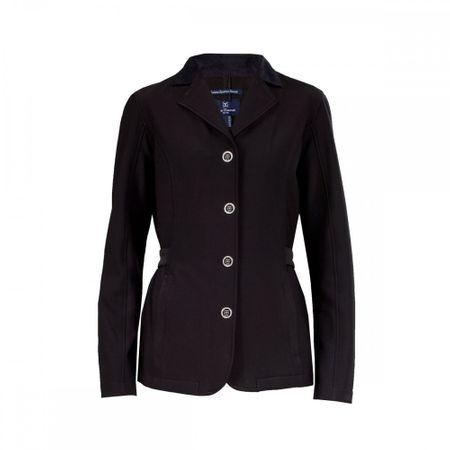 Elegantes, unempfindliches Turnier Jacket aus Softshell, Turnierjacket schwarz – Bild 1