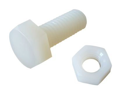 10 x Hexagon Screw and Nut Nylon M8 20mms – image 1