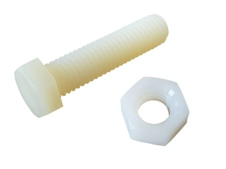 10 x Hexagon Screw and Nut Nylon M8 30mms – image 1
