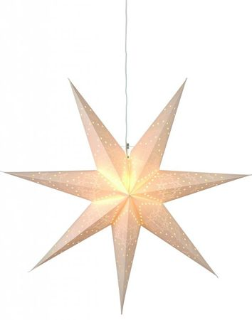 SALE !! White Christmas Star Hanging Star punched 70cms 7-pointed without cable