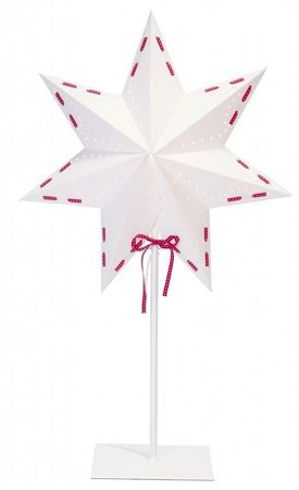 SALE !! Star Standard Lamp white with red ribbon – image 2