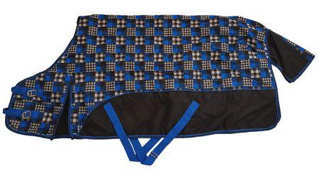 AKTION Regendecke 150g Füllung 600D wind- wasserdicht schwarz-blau Gr 135-155 – Bild 1