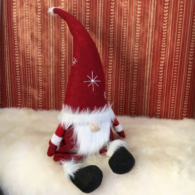 Athmospheric Gnome Santa Fabius sitting on the edge Size L 60 cms high diff. colours – image 4
