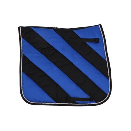 AKTION Moderne Dressur Schabracke Full Blau/Schwarz Gestreift Absorbierend – Bild 1