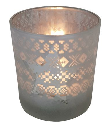 Tea Light Holder Glass Lantern Autumn/Winter – image 11