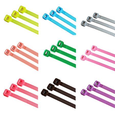 100 x Cable Tie various lengths and colours – image 2